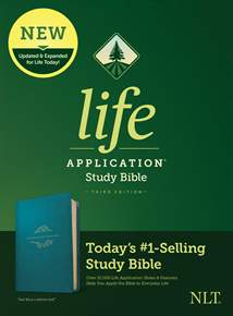 NLT Life Application Study Bible, Third Edition: LeatherLike, Teal Blue