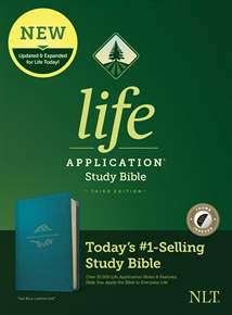 NLT Life Application Study Bible, Third Edition: LeatherLike, Indexed, Teal Blue