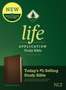NLT Life Application Study Bible, Third Edition: LeatherLike, Dark Brown/Brown
