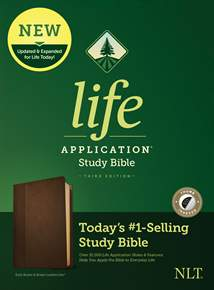 NLT Life Application Study Bible, Third Edition: LeatherLike, Indexed, Dark Brown/Brown