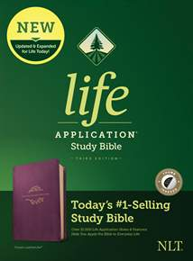 NLT Life Application Study Bible, Third Edition: LeatherLike, Indexed, Purple