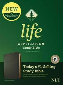NLT Life Application Study Bible, Third Edition: Genuine Leather, Indexed, Black