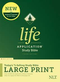 NLT Life Application Study Bible, Third Edition, Large Print: Hardcover, Red Letter