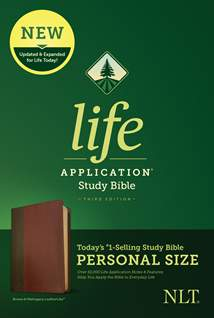 NLT Life Application Study Bible, Third Edition, Personal Size: LeatherLike, Brown/Mahogany