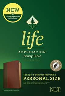 NLT Life Application Study Bible, Third Edition, Personal Size: LeatherLike, Indexed, Brown/Mahogany