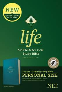 NLT Life Application Study Bible, Third Edition, Personal Size: LeatherLike, Indexed, Teal Blue
