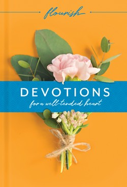 Front cover image of Flourish: Devotions for a Well-Tended Heart. A beautiful gift book for a new believer that is very accessible.