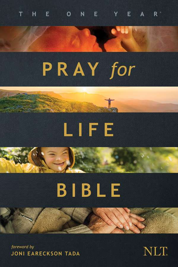 Cover of One Year Pray for Life Bible, by Tyndale House Publishers