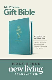 Premium Gift Bible NLT: LeatherLike, Teal, Red Letter