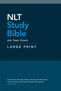 NLT Study Bible Large Print: Hardcover, Red Letter