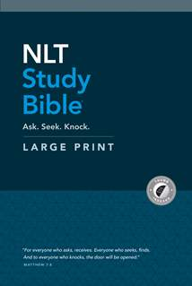 NLT Study Bible Large Print: Hardcover, Indexed, Red Letter