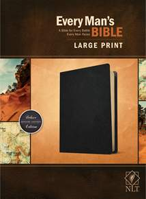 Every Man's Bible NLT, Large Print: Genuine Leather, Black
