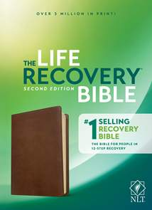 NLT Life Recovery Bible, Second Edition: LeatherLike, Rustic Brown