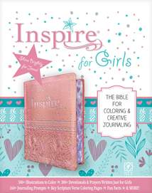 Inspire Bible for Girls NLT: LeatherLike, Pink