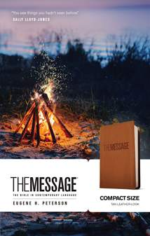The Message Compact: Leather-Look, Tan