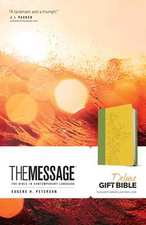 The Message Deluxe Gift Bible: Leather-Look, Sunlight/Grass