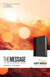 The Message Deluxe Gift Bible: Leather-Look, Black/Slate