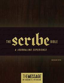 The Message Scribe Bible: Hardcover, Dark Walnut
