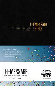 The Message Gift and Award Bible: Softcover, Black