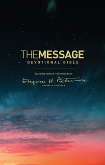 The Message Devotional Bible: Hardcover