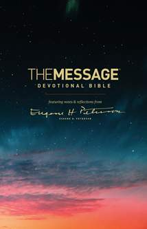 The Message Devotional Bible: Softcover