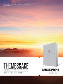The Message Large Print: Hardcover Deluxe, Lavender on Linen
