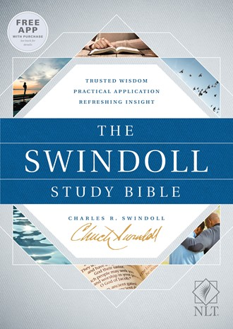 Cover image of Swindoll Study Bible hardcover binding